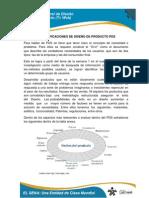 Especificaciones de diseños de Productos PDS