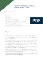 STRATEGIA NAŢIONALĂ DE ORDINE PUBLICĂ 2010 – 2013