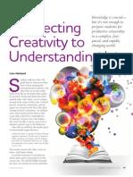 Connecting Creativity to Understanding