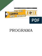 CampusMery2013 Programa