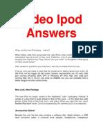 Video iPod Answers