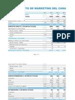 Presupuesto de Mkt Del Canal