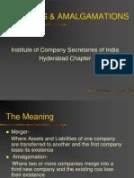 Amalgamation and Mergers