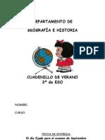Cuadernillo Geografía verano 3º