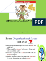 Congruence Model for implementing Change management in organizations.