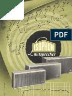Isophon, Lautsprecher 1963