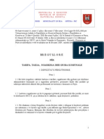 Rregullorja Komunale pë taksa e tarifa 2009