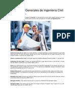Conceptos Generales de Ingeniería Civil
