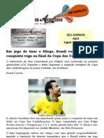 Em jogo de tirar o fôlego, Brasil vence Uruguai e conquista vaga na final da Copa das Confederações