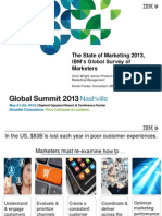 The State of Marketing 2013, IBM's Global Survey of Marketers