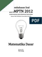 Pembahasan Soal SNMPTN 2012 Matematika Dasar Kode 623