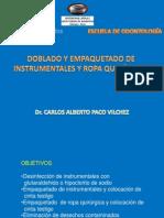 Doblado y empaquetado de instrumental y ropa quirúrgica-Dr Paco