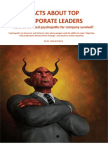 FACTS ABOUT TOP CORPORATE LEADERS … and do we need psychopaths for company survival?