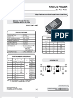 Single Phase EMI Filter Solutions - RP240 Series