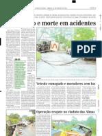 2004.01.24 - Acidente envlovendo caminhão e três carros  no km 397 da BR-381 - Estado de Minas