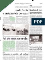 2004.02.09 - Duas vítimas fatais no km 420 da BR-381 - Estado de Minas