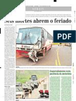 2004.02.22 - Engarrafamento testa paciência do motorista - Estado de Minas