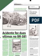 2004.03.21 - Acidente faz duas vítimas na BR-381 - Estado de Minas