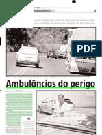 2004.04.11 - Ambulâncias do perigo - Estado de Minas