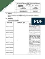 V2 - IPRO-001 Instructivo Preservación de Equipos y Contenedores