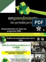 Emprendimiento en Todos Los Programas 2009