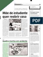 2004.10.15 - Quatro Mortos Em Acidente - Estado de Minas