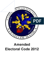 Amended Electoral Code 2012