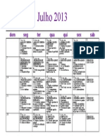 Calendario de Estudo