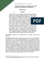 Gwadar Deep Sea Port's Emergence