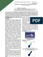 THE DESIGN AND ANALYSIS OF GAS TURBINE BLADE