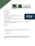 Nightly Business Report - Wednesday June 26 2013