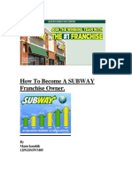 How to Become a SUBWAY Franchise Owner