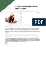 Cariocas acessam a internet pelo celular mais que a média nacional /Ibope 2012