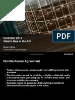 Inventor 2014 API