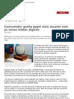 Consumidor ganha papel mais atuante com as novas mídias digitais / Ibope 2012