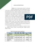 Model Analiza Senzitivitate