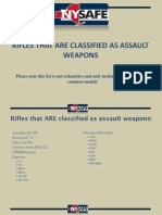 Rifles That Are Classified as Assault Weapons - NY SAFE Act