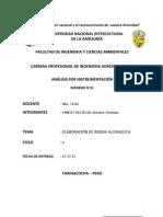 Informe de Elaboracion de Bebida Alcoholica de Carambola