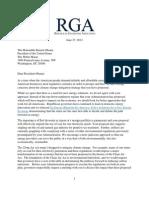 RGA Climate Change Letter