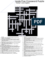 Episode 5 crossword answer