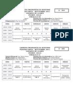 Horario Clases Sistemas 2011
