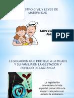 REGISTRO CIVIL Y LEYES MATERNIDAD.pptx