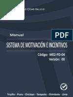 MANUAL DEL SISTEMA DE MOTIVACIÓN E INCENTIVOS.