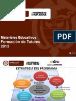 2 PRESENTACIÓN DE MATERIALES 2013