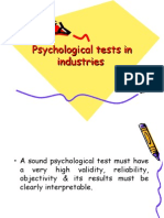 Psychological Tests in Industries
