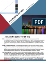 A Changing Society Timeline