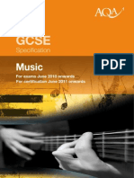 aqa gcse music specification