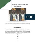 Letra año 2013 2014 Oke Itase Ilé Ifé