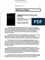 Organizational Development- Principles, Processes, Performance