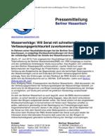 Pressemitteilung vom Berliner Wassertisch vom 27. Juni 2013